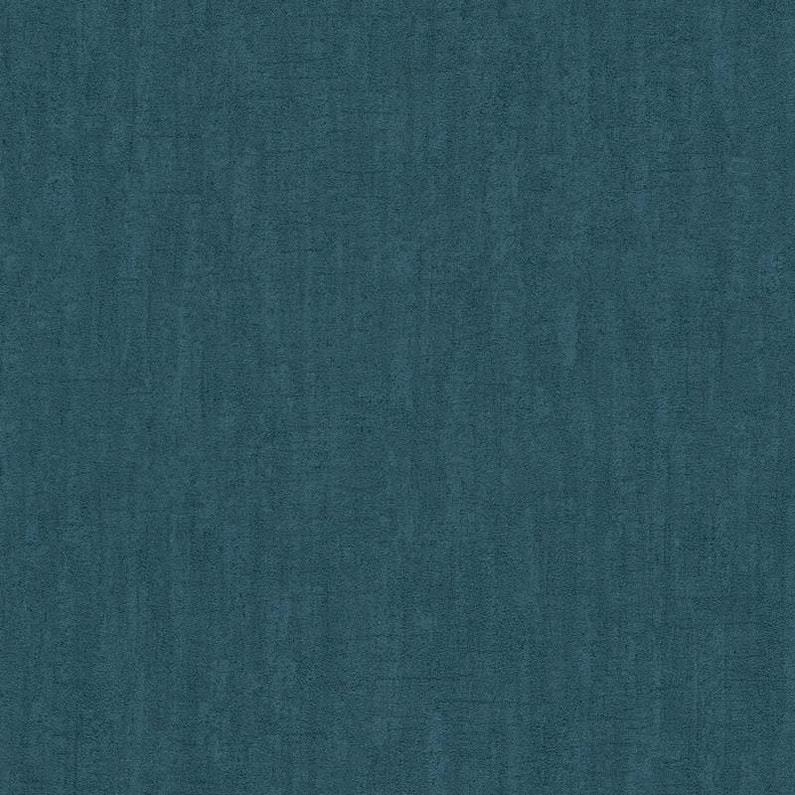 Papier Peint Vinyle Saffiano Uni Béton Bleu Paon Leroy Merlin
