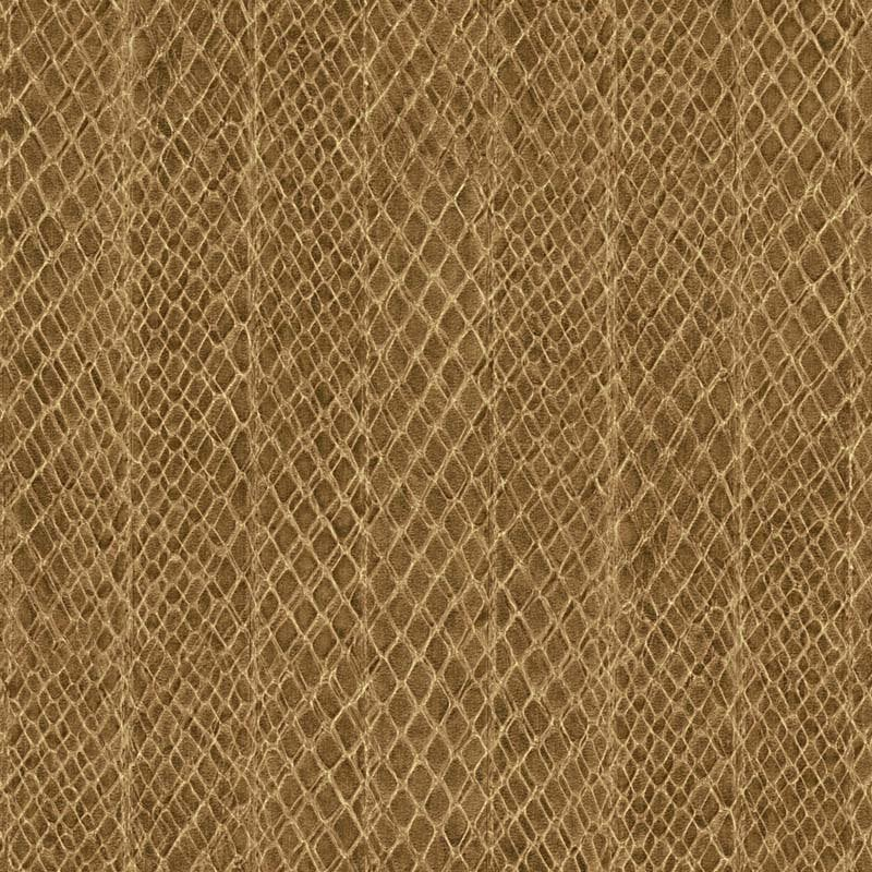 Papier peint vinyle SAFFIANO Rayure serpent brun
