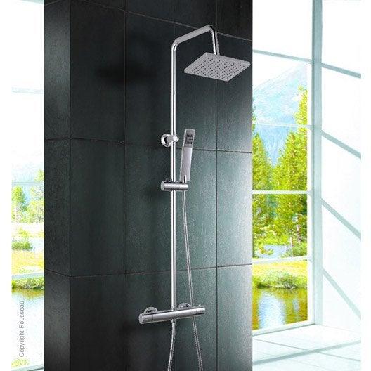 colonne de douche avec robinetterie nessy cuadrado leroy merlin. Black Bedroom Furniture Sets. Home Design Ideas