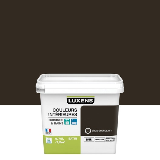 Peinture Couleurs intérieures LUXENS, Brun chocolat 1, 0.75 l | Leroy Merlin