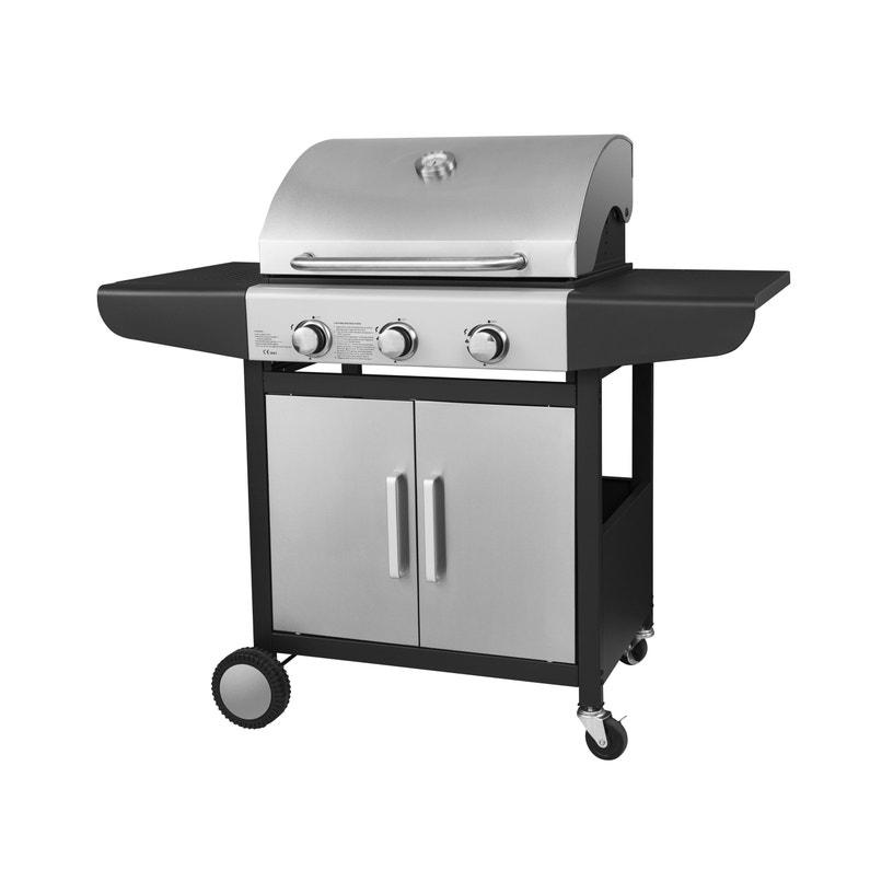 Barbecue Au Gaz Kalorik Tkg Gbbq 1004 Acier Inoxydable 3x3kw