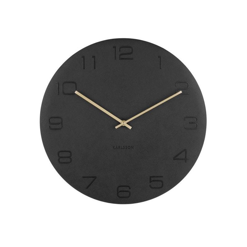 Horloge Vigorous Ronde Noir Karlsson L40 X H40 Cm