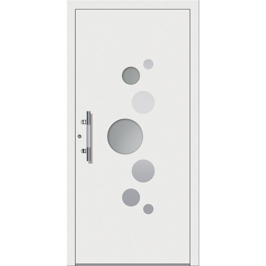 Porte d 39 entr e sur mesure en aluminium elena excellence - Porte entree alu leroy merlin ...