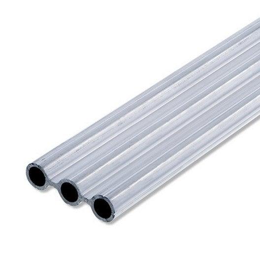tube triple en aluminium brut long 1m x larg 43 5 x ep 1 5 mm leroy merlin. Black Bedroom Furniture Sets. Home Design Ideas