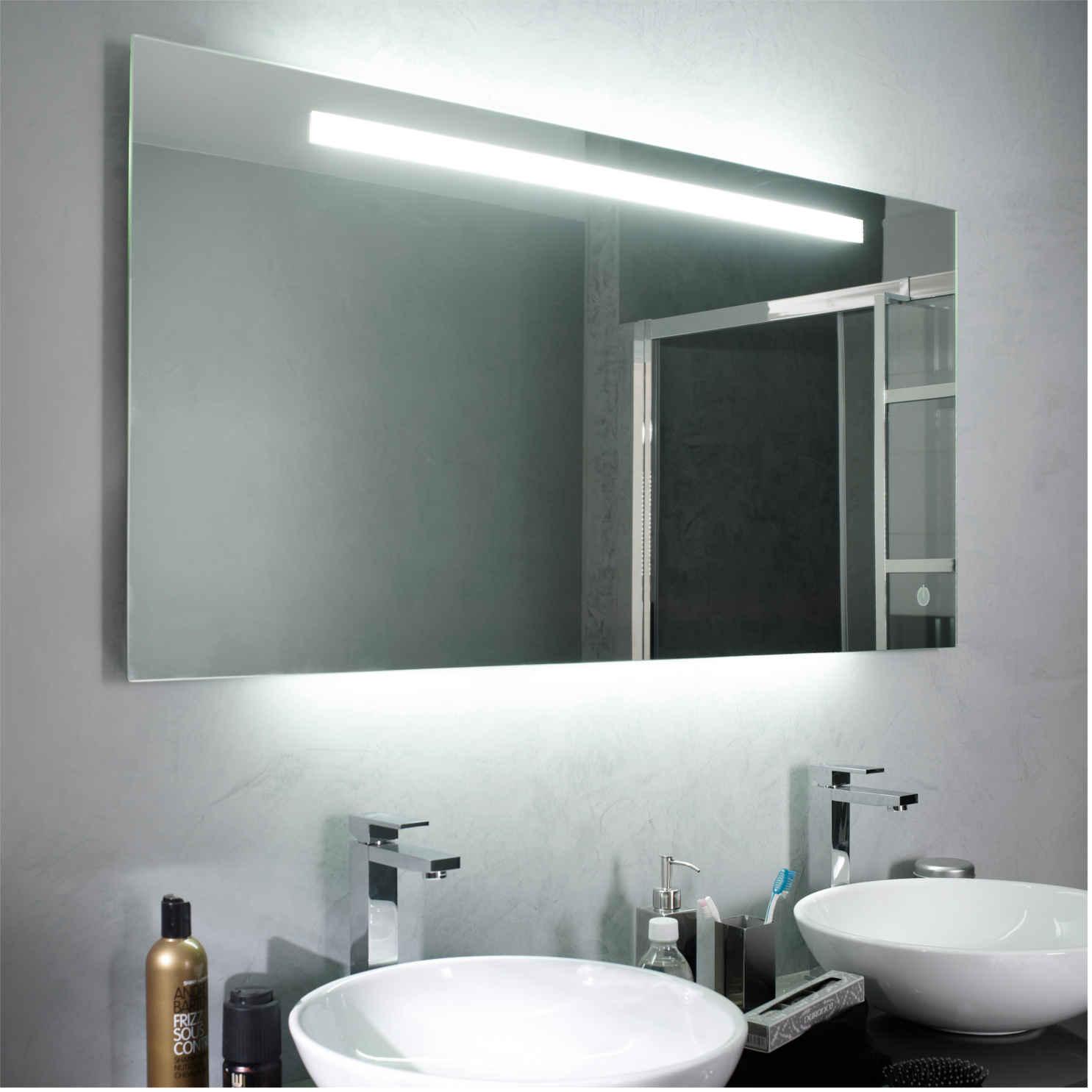 eclairage indirect salle de bain Miroir lumineux