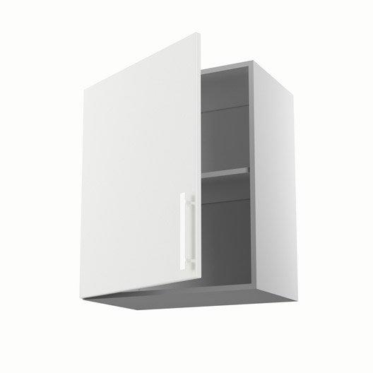 Meuble de cuisine haut blanc 1 porte d lice x x for Meuble haut cuisine 60 x 60