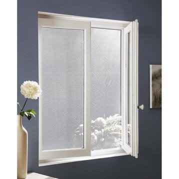 Moustiquaire noir pour fenêtre à fixation adhésive auto-agrippante, 130x150 cm