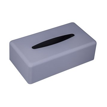 Boîte à mouchoirs en plastique argent, Paille