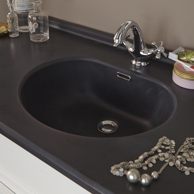 une vasque noire pour un meuble romantique leroy merlin. Black Bedroom Furniture Sets. Home Design Ideas