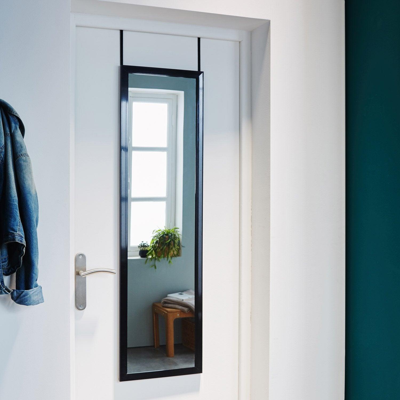 Miroir De Porte, Noir, L.30 X H.120 Cm