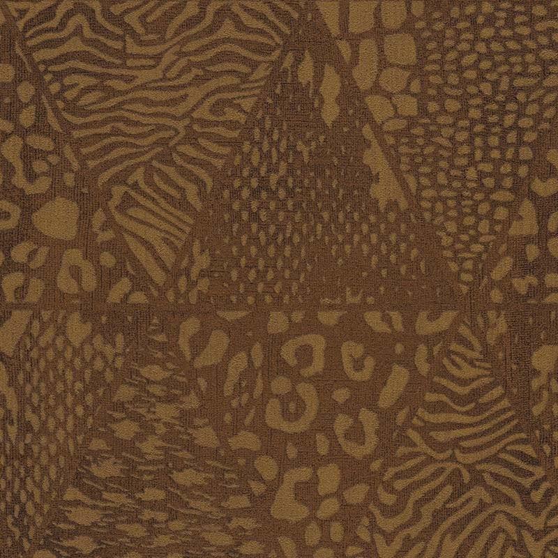 Papier peint vinyle SAFFIANO félin brun