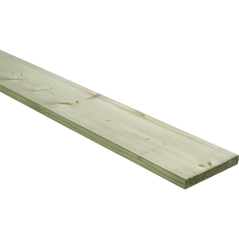 Planche Sapin épicéa Traité Et Raboté 25x195 Mm Long 4 M Choix 2 Classe 3