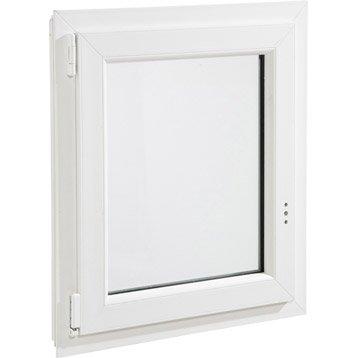 Fenêtre pvc 1 vantail oscillo-battant H.75 x l.60 cm
