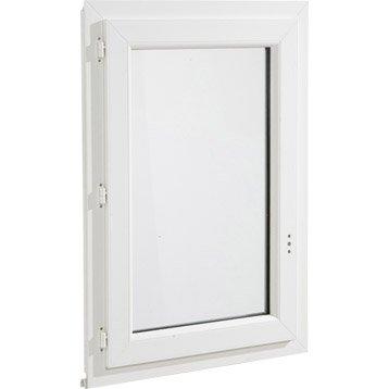 Fenêtre pvc 1 vantail ouvrant à la française H.45 x l.40 cm