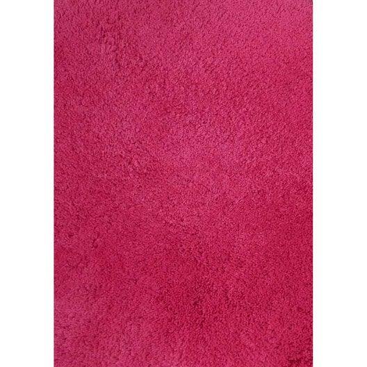 tapis rose shaggy agathe x cm leroy merlin. Black Bedroom Furniture Sets. Home Design Ideas