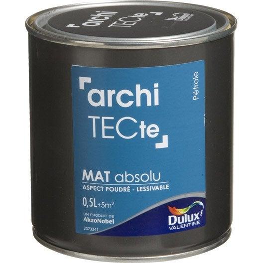 peinture bleu p trole dulux valentine architecte 0 5 l. Black Bedroom Furniture Sets. Home Design Ideas