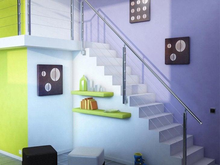 Le garde-corps est l'élément essentiel de la sécurité dans l'escalier.