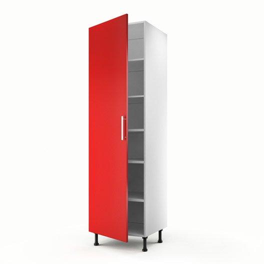 Meuble de cuisine colonne rouge 1 porte d lice x l for Porte 60 cm de large