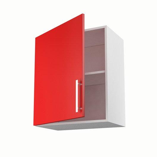 Meuble de cuisine haut rouge 1 porte d lice x x for Porte cuisine 60 x 30