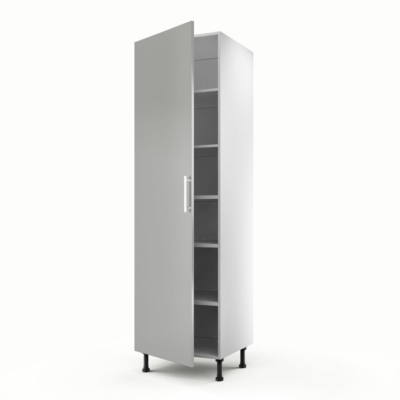 Meuble de cuisine colonne gris 1 porte d lice x for Porte 60 cm de large