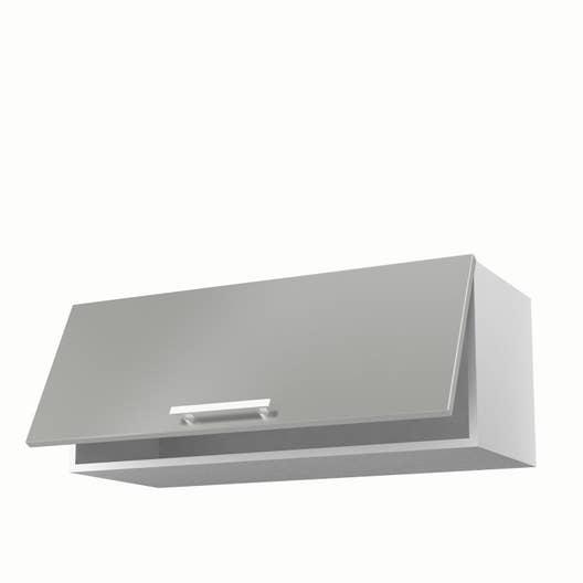 meuble de cuisine haut gris 1 porte d lice x x cm leroy merlin. Black Bedroom Furniture Sets. Home Design Ideas