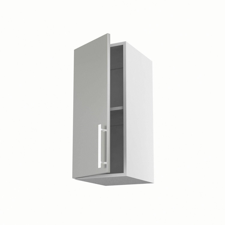 Meuble de cuisine haut gris 1 porte d lice x x cm leroy merlin - Meuble haut cuisine profondeur 30 cm ...
