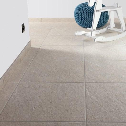 Carrelage sol et mur beige effet pierre bellac x for Carrelage antiderapant cuisine pro