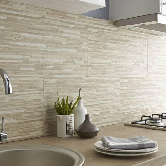 carrelage mur beige listello x cm leroy merlin. Black Bedroom Furniture Sets. Home Design Ideas