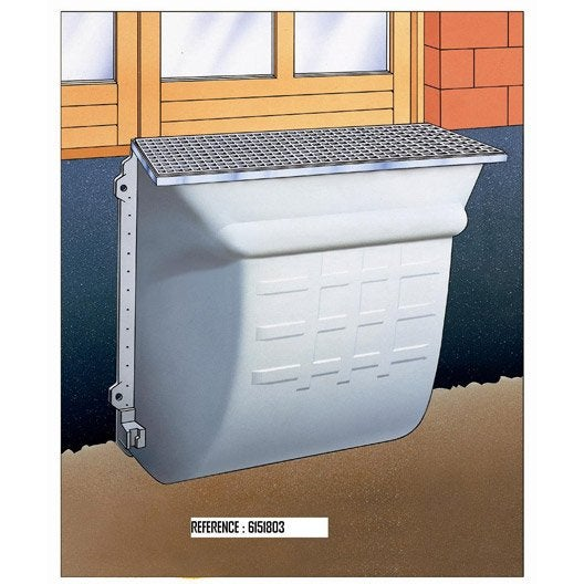 cours anglaise composite fibre de verre x cm mea leroy merlin. Black Bedroom Furniture Sets. Home Design Ideas