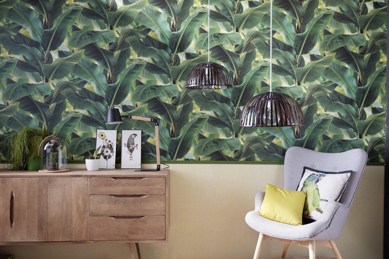 Papier Peint Jungle Pour Une Touche Tropicale Et Exotique Leroy Merlin