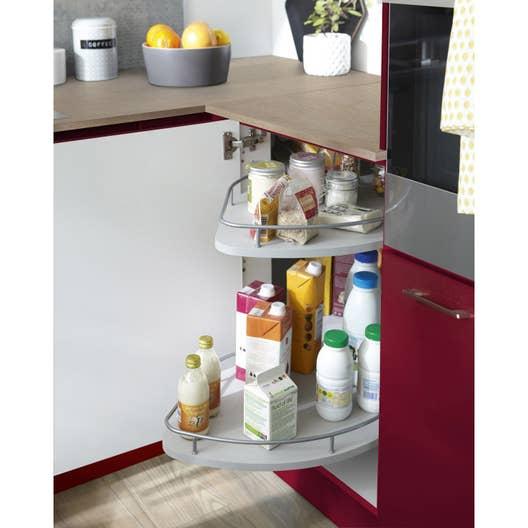 Rangement coulissant 2 paniers tirant gauche pour meuble d 39 angle bas delinia leroy merlin - Paniers coulissants cuisine ...