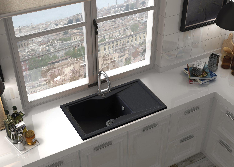un vier de cuisine noir leroy merlin. Black Bedroom Furniture Sets. Home Design Ideas