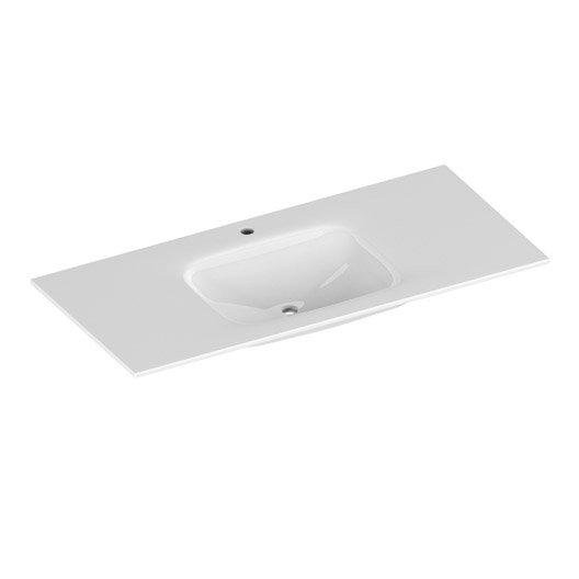 plan vasque simple verre verre tremp 101 cm leroy merlin. Black Bedroom Furniture Sets. Home Design Ideas