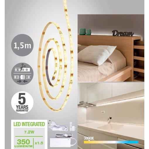 Kit Ruban Led 15m Blanc Chaud 3000k 400 Lumens Ledflexi Inspire