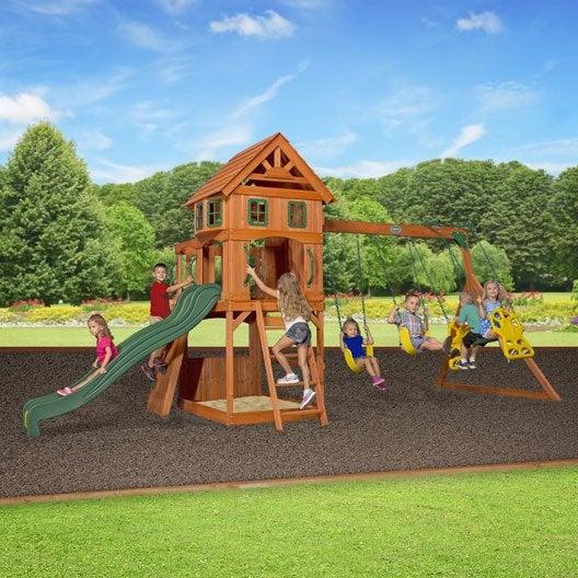Balan oire portique aire de jeux enfants au meilleur - Aire de jeux en bois leroy merlin ...