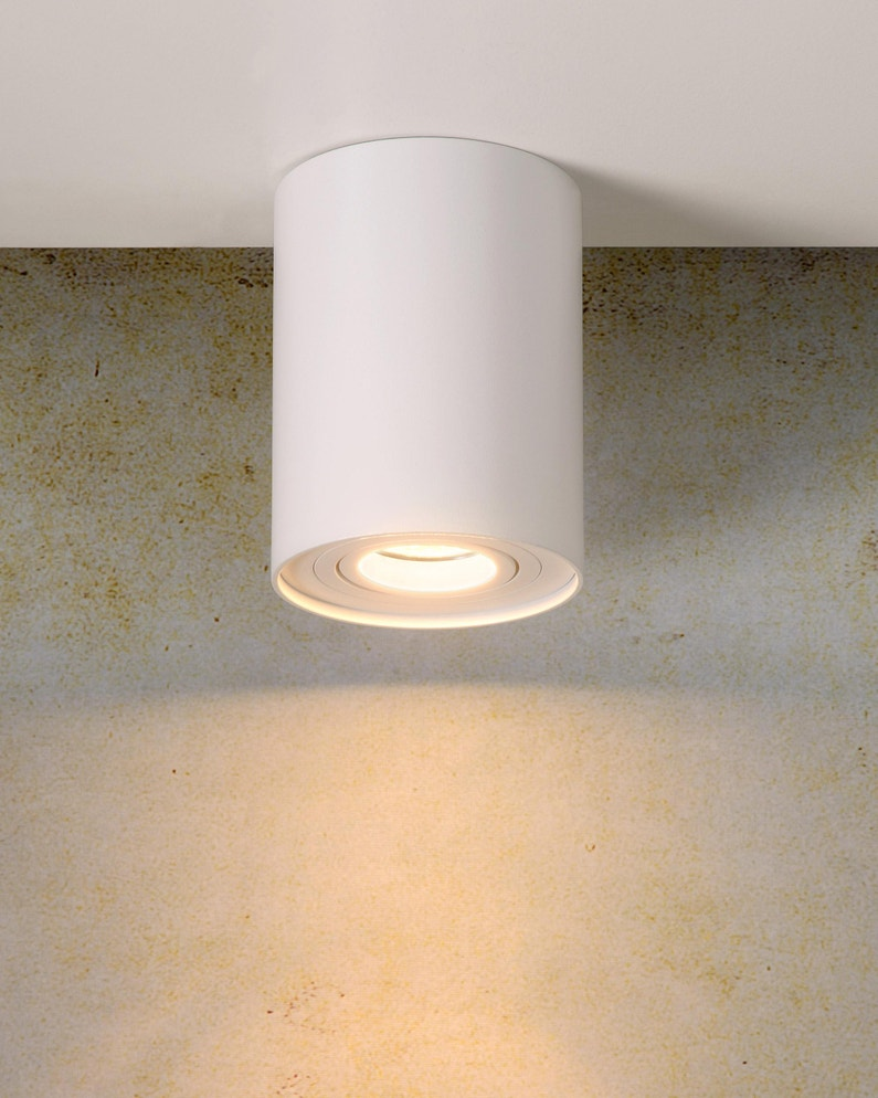 Spot Aluminium Blanc Lucide Tube