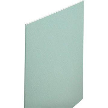 Plaque de plâtre Hydro NF H1 3 x 1.2 m, BA13, entraxe 60 cm