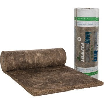 Laine de verre Nu KNAUF INSULATION 7.2 x 1.2 m, Ep. 80 mm, 035, R=2.25