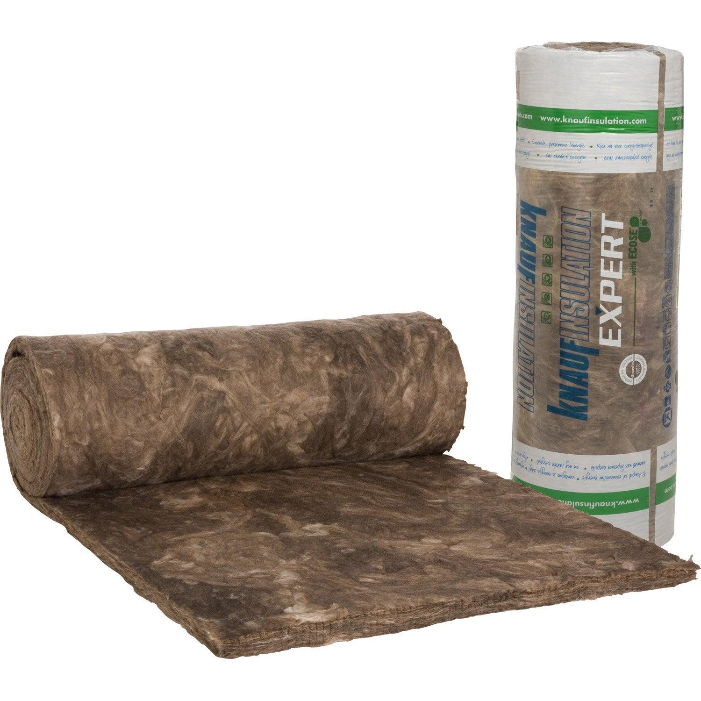 laine de verre nu knauf insulation 9 3 x 1 2 m ep 60 mm lambda r leroy merlin. Black Bedroom Furniture Sets. Home Design Ideas