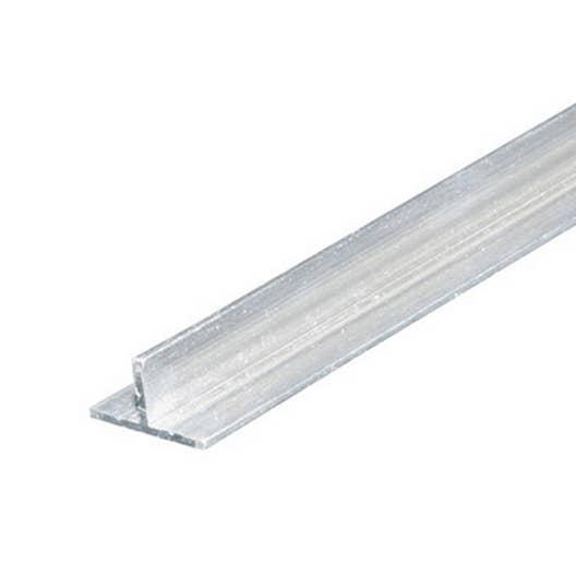 T rectangulaire aluminium brut l 1 m x l 1 4 cm x h cm leroy merlin - Profile aluminium rectangulaire ...