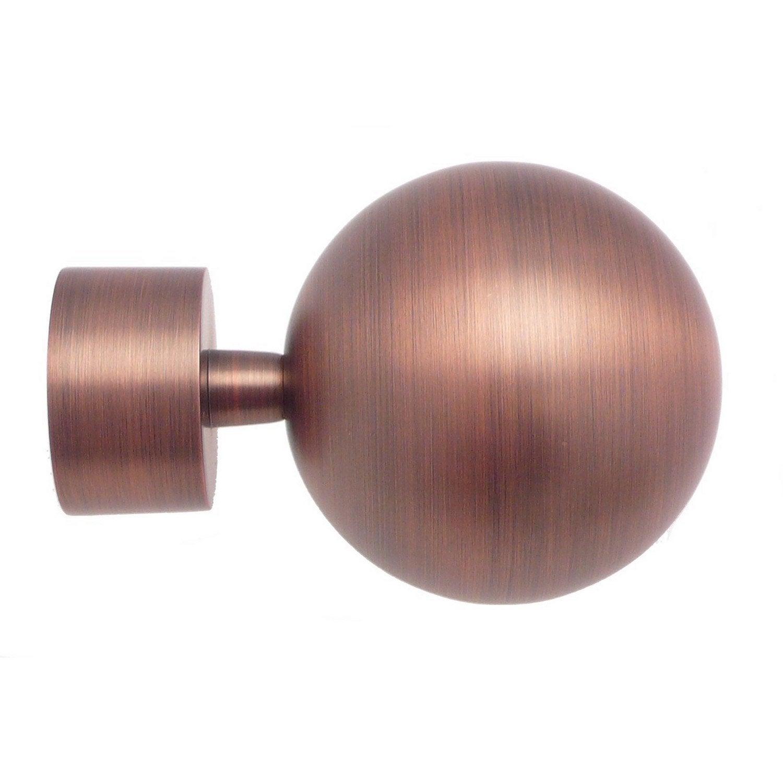 Embout INSPIRE, cuivre mat, pour tringle à rideau Diam.28 mm