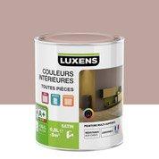 Peinture rouge velours LUXENS Couleurs intérieures satin 0.5 l