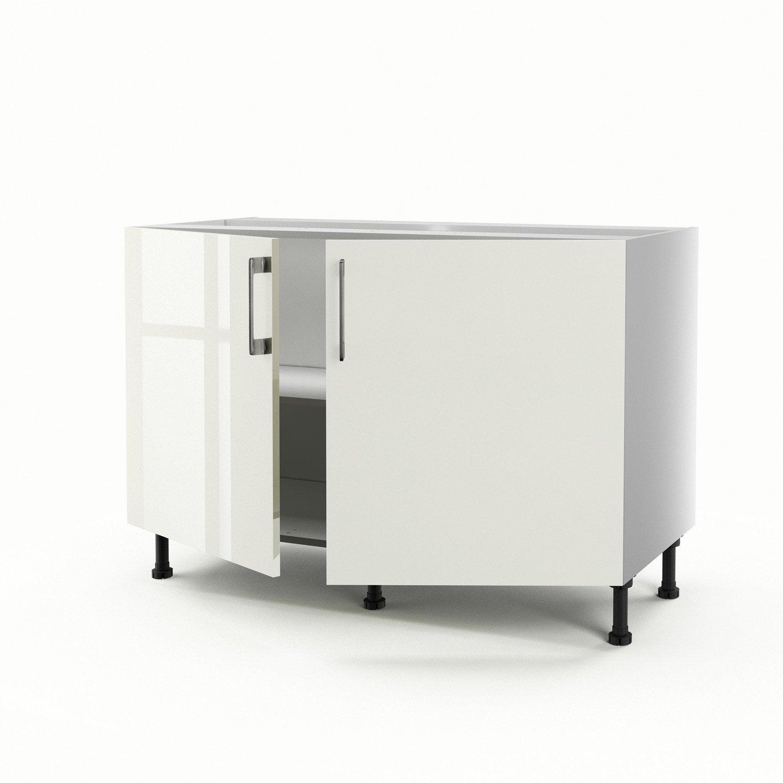 meuble de cuisine sous vier beige 2 portes perle x x cm leroy merlin. Black Bedroom Furniture Sets. Home Design Ideas