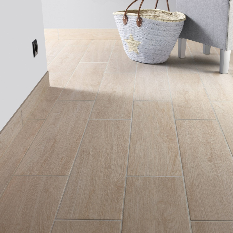 Carrelage sol et mur naturel effet bois helsinki x for Carrelage salle de bain sol et mur