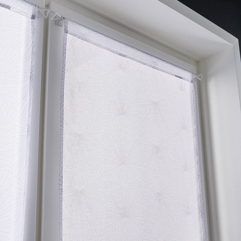 Paire De Vitrages Tamisant Petite Hauteur Kita Blanc L60 X H120 Cm