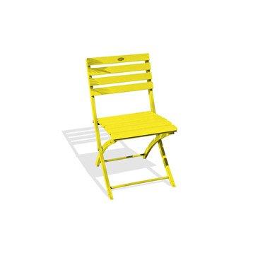 Chaise de jardin en aluminium Marius jaune