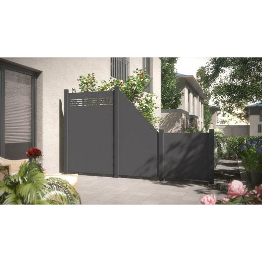 panneau composite aluminium occultant x cm gris leroy merlin. Black Bedroom Furniture Sets. Home Design Ideas