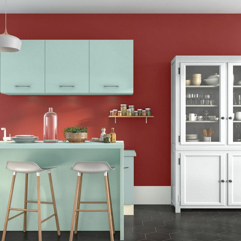 Peinture Cuisine Meubles Crédences Luxens Blanc 2 L Satin