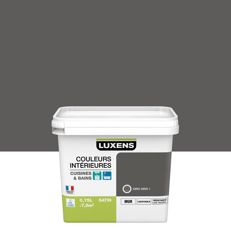 Peinture Couleurs intérieures LUXENS, Gris gris 1, 0.75 l