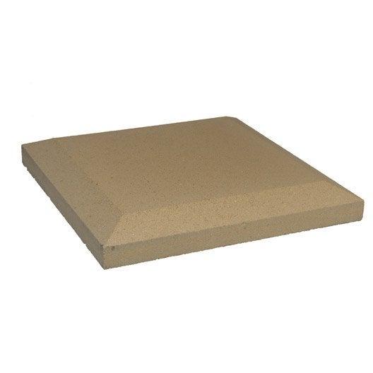 chapeau pierre reconstitu e plat h 5 x x cm leroy merlin. Black Bedroom Furniture Sets. Home Design Ideas